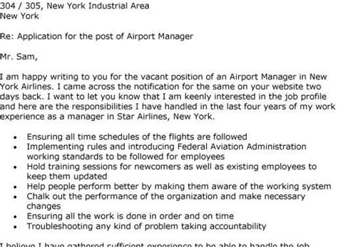 Airport Manager Resume Cover Letter Exles by Application Cover Letter