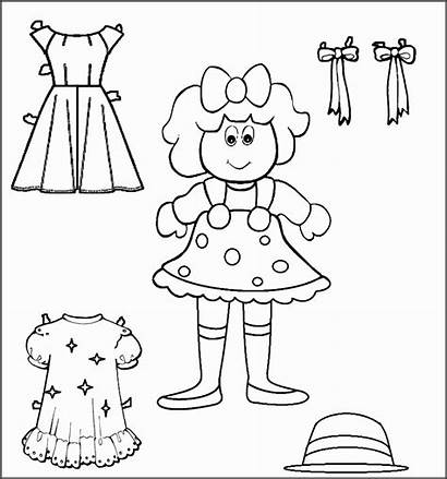 Doll Paper Dolls Templates Printable Coloring Pages