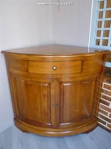 Meuble De Tele D Angle : meuble d 39 angle 2 portes en merisier ~ Nature-et-papiers.com Idées de Décoration