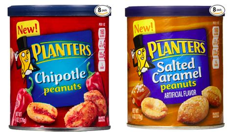 planters chipotle peanuts eight planters peanuts 6 oz canisters in chipotle