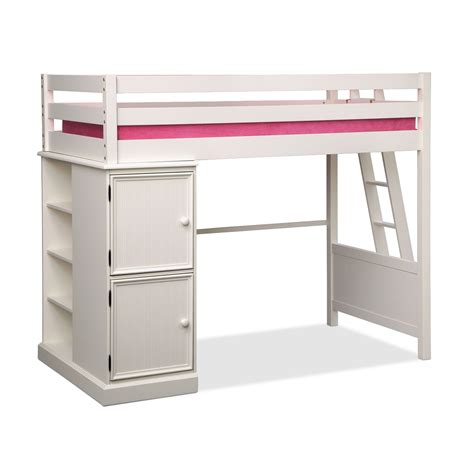 24615 bunk beds and lofts colorworks loft bed white value city furniture and