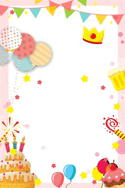 Birthday Party Invitation Card Warm And Romantic Child