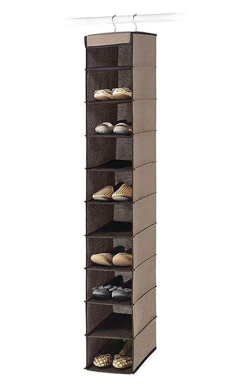essential home  shelf hanging shoe organizer