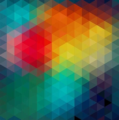 abstract geometric background with colorful triangular