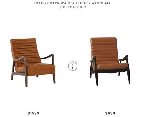 Pottery Barn Walker Leather Armchair