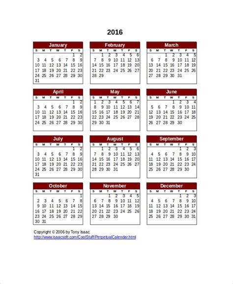 perpetual calendar    psd documents
