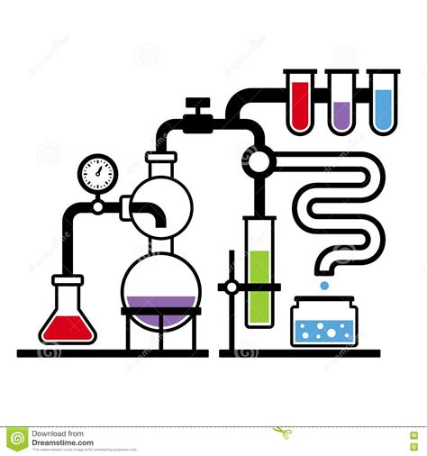 chemistry laboratory infographic set  stock vector