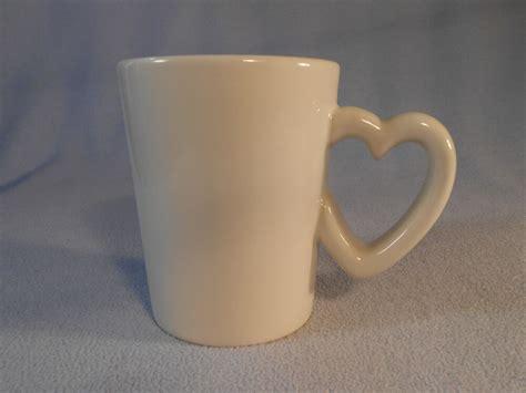 Williams Sonoma Heart Shaped Handle Cup Mug