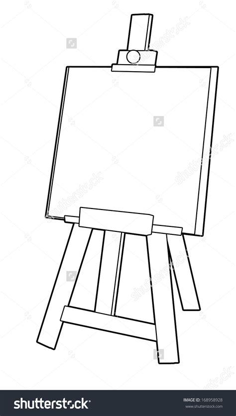 art easel coloring page art easel coloring page