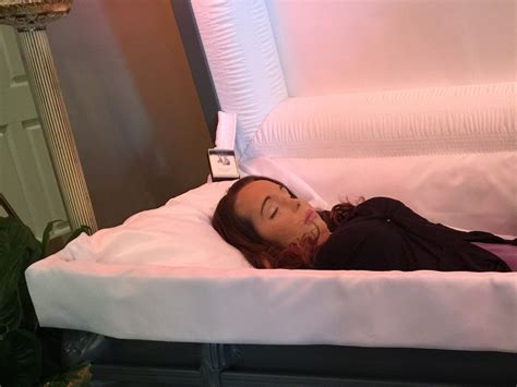 Bad habit that is harmful to health. An American woman in her open casket during her funeral ...