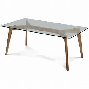 Table Plateau Verre Pied Bois : table basse plateau verre pied bois table basse table pliante et table de cuisine ~ Melissatoandfro.com Idées de Décoration