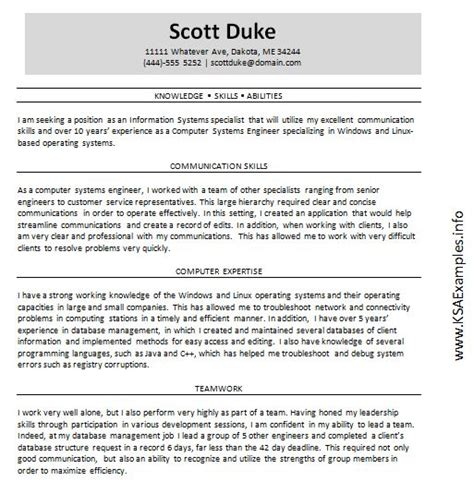 knowledge skills and abilities template available