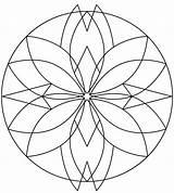 Kaleidoscope Coloring Pages Mandala Printable sketch template