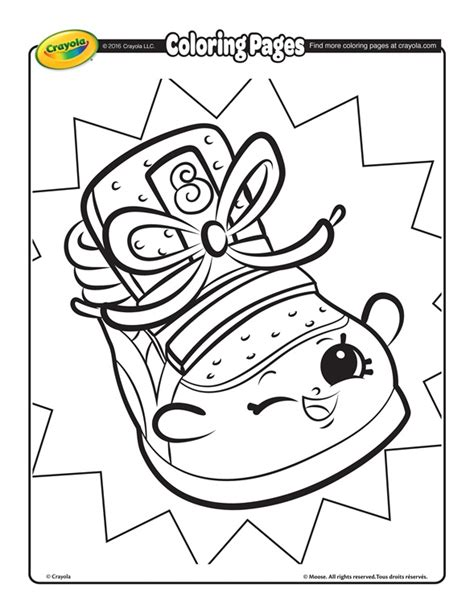Shopkins Sneaky Wedge Coloring Page crayola com