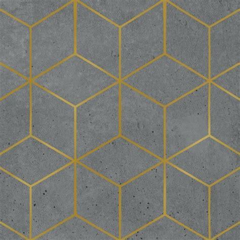Metallic Floor Tiles by Grey Cement Amp Gold Geometric Pattern Napkins Pipii