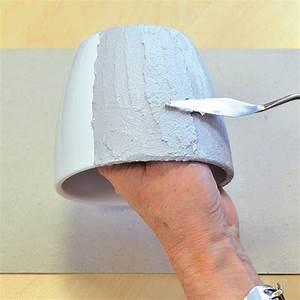 Beton Effekt Paste : blumentopf im beton look lm kreativ blog ~ Eleganceandgraceweddings.com Haus und Dekorationen