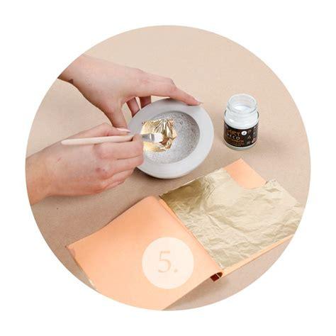 blattgold anlegemilch anleitung mach dir deine eigene beton schale materialliste kreativbeton blattgold inkl anlegemilch und