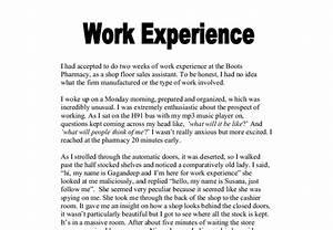 work experience speech essays