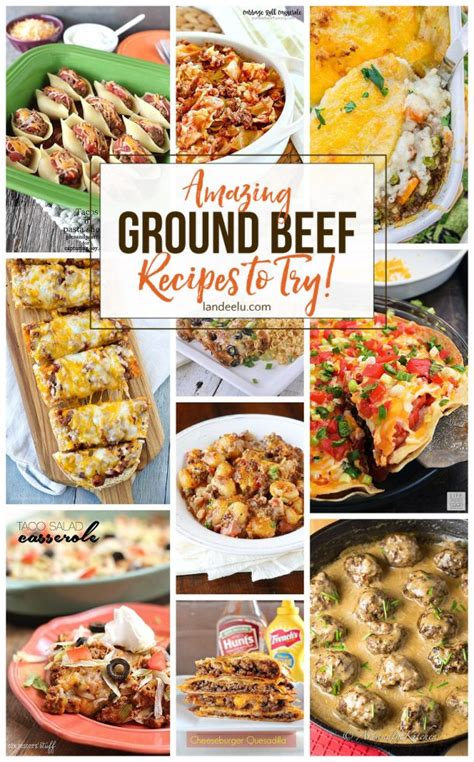 amazing ground beef recipes to try landeelu com