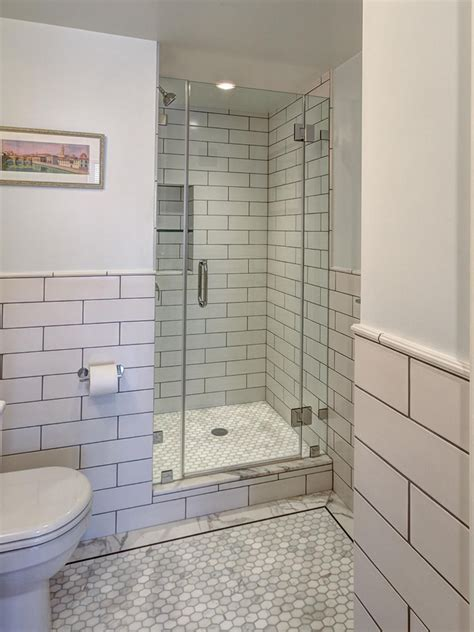 Subway Tiles In Bathroom by Oversized Subway Tile Is A Mod Counterpart To The