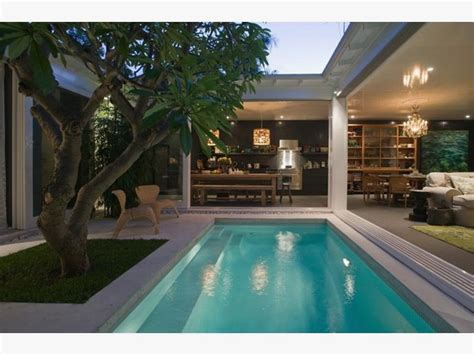 garage swimming pool mediterranean house plans  shaped  courtyard  middle  shaped