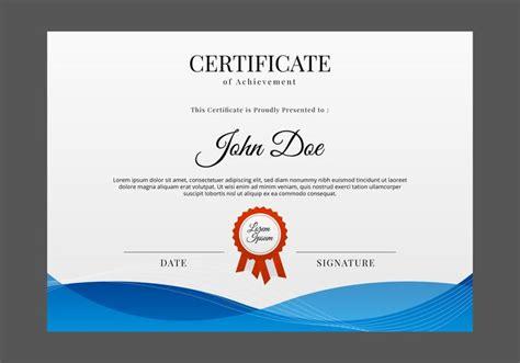 vecteur de modele de certificat gratuit telechargez de