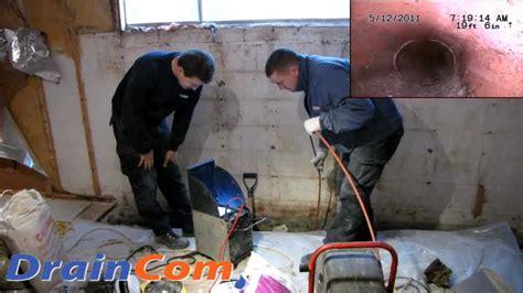 interior basement waterproofing draincomcom youtube