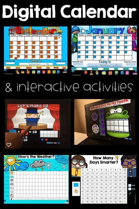 digital calendar  interactive activities powerpoint
