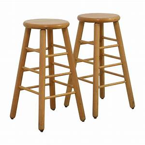 83 off wood bar stools chairs With 2nd hand bar stools
