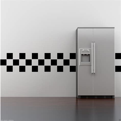 30 Wall Art Tile Stickers Fake Bathroom Kitchen Tiles 4x4