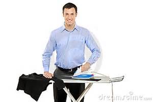 kitchen faucet water happy ironing his clothes stock image image 16510811