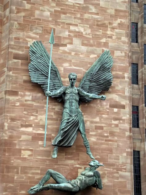 coventry cathedral epsteins sculpture  stmichael