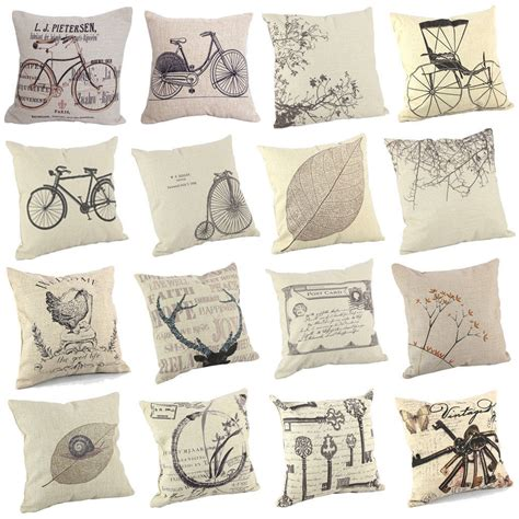 decorative pillow ideas for sofa new sofa cushion cover throw pillow case 18 quot vintage 16