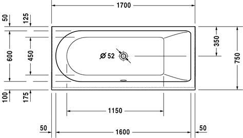 dimension baignoire standard new badewanne 700243 duravit