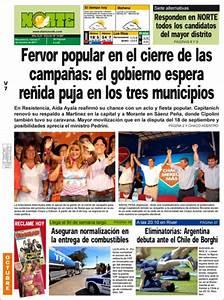 Peri U00f3dico Diario Norte  Argentina   Peri U00f3dicos De Argentina  Edici U00f3n De Viernes  7 De Octubre De