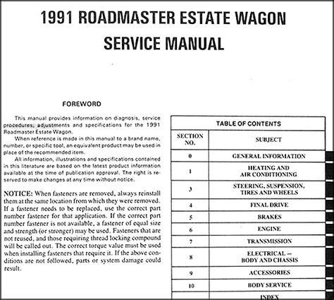manual repair autos 1991 buick skylark transmission control 1991 buick roadmaster estate wagon repair shop manual original