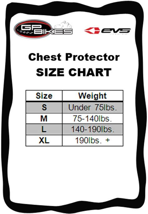 how to size motocross shop evs vex chest protector online in canada gp bikes