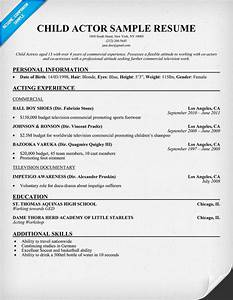 Childs audition resume template templates resume for Audition resume template