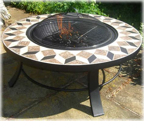Round Table Fire Pit Braziers, Fire Baskets Copper