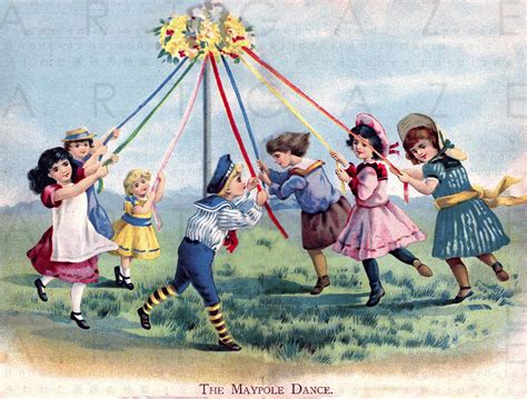 Victorian Children Celebrating May Day. Vintage May Day