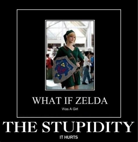 Funny Zelda Memes - image 282209 link zelda confusion what if zelda was a girl know your meme