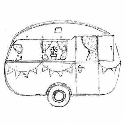 Caravan Sketch Pencil Dream