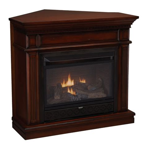 corner ventless gas fireplace foter