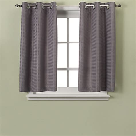 Hookless® Waffle 45 Inch Bath Window Curtain   Bed Bath
