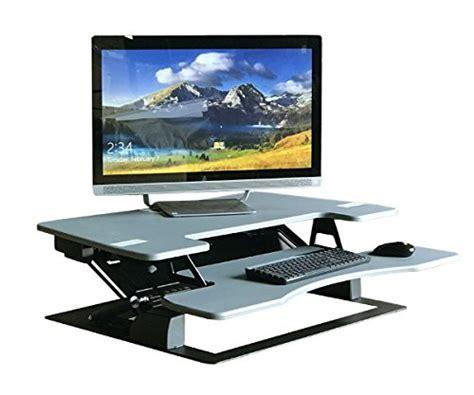 fancierstudio riser desk standing desk fancierstudio standing desk riser desk extra wide 38 quot fits