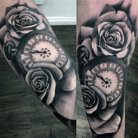 pocket  tattoo designs  men cool timepieces