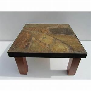 Table Basse Fer Et Bois : table basse bois fer design ~ Teatrodelosmanantiales.com Idées de Décoration
