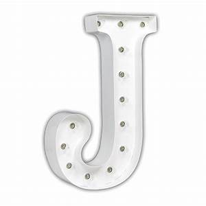 white 24 inch letter j marquee light by vintage marquee lights With letter j light