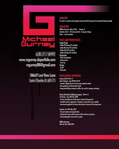 graphic design resume 9 creative resume designs