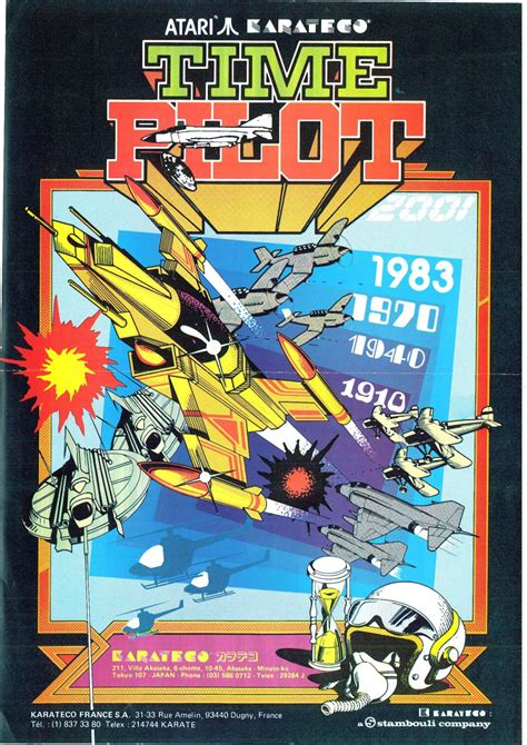 The Arcade Flyer Archive Video Game Flyers Time Pilot